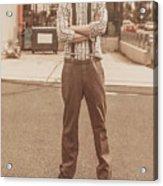 Funny Anchorman On Tv Acrylic Print