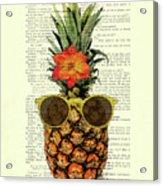 Funny And Cute Pineapple Art Acrylic Print