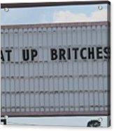 Funny Billboard  Acrylic Print