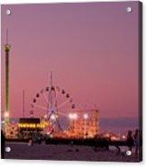 Funtown Pier At Sunset IIi - Jersey Shore Acrylic Print by Angie Tirado