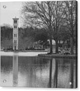 Furman Bell Tower 3 Bw Acrylic Print