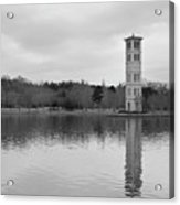 Furman Bell Tower 4 Bw Acrylic Print