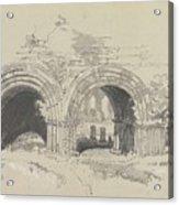 Furness Abbey East  29 August 1836 By Edward Lear  1836 Acrylic Print