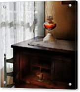 Furniture - Lamp - I Used To Write Letters  Acrylic Print by Mike Savad