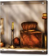 Furniture - Shelf - A Collection Of Curious Items Acrylic Print by Mike Savad