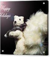 Furry Holiday Acrylic Print