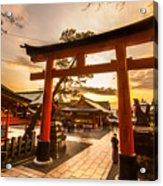 Fushimi Inari Taisha Shrine In Kyoto Acrylic Print