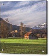 Fussen Mountain Scene Acrylic Print