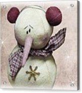 Fuzzy The Snowman Acrylic Print
