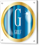 G For Golf Acrylic Print