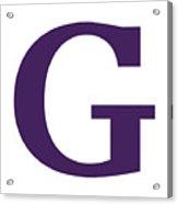 G In Purple Typewriter Style Acrylic Print