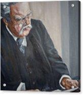 G K Chesterton Acrylic Print