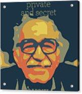 Gabriel Garcia Marquez Acrylic Print