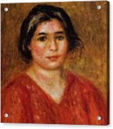 Gabrielle In A Red Blouse 1913 Acrylic Print