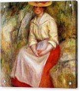 Gabrielle In A Straw Hat 1900 Acrylic Print