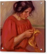 Gabrielle Mending 1908 Acrylic Print