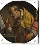 Gaetano Gandolfi San Matteo Della Decima Near Bologna 1734   1802 Bologna Saint Liborius Acrylic Print