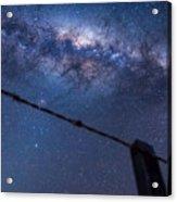 Galactic Kiwi On A Barbed Wire Acrylic Print