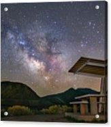 Galactic Picnic - Milky Way At Pyramid Lake Acrylic Print