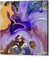 Galactic Portal. Abstract Fluid Acrylic Pour Acrylic Print
