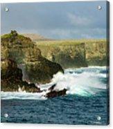 Cliffs At Suarez Point, Espanola Island Of The Galapagos Islands Acrylic Print