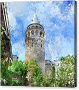 Galata Tower In Istanbul Tukey Acrylic Print