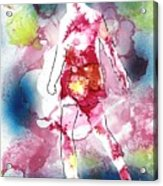Galaxy Girl Acrylic Print