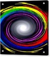 Galaxy In Chakra Colors Acrylic Print