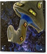 Button In Space Acrylic Print