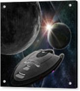 Galaxy Trek  Vulcan To Boldly Go Poster  Starship Acrylic Print