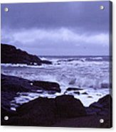 Gale Winds At Nubble Light Acrylic Print