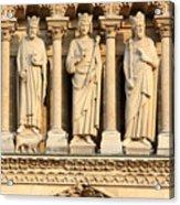 Galerie Des Rois Catherdrale Notre Dame De Paris France Acrylic Print