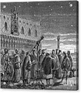 Galileo Demonstrates Telescope, 1609 Acrylic Print
