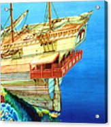 Galleon On The Reef 2 Filtered Acrylic Print