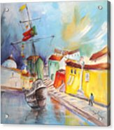 Gallion In Vila Do Conde Acrylic Print