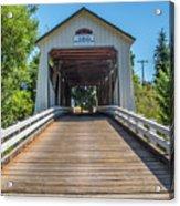 Gallon House Covered Bridge Acrylic Print