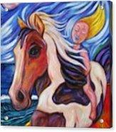 Gallop Along The Beach Acrylic Print