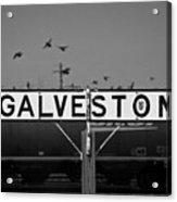 Galveston Train Yard Acrylic Print