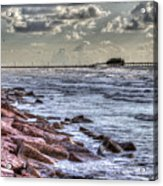 Galveston's Piers Acrylic Print