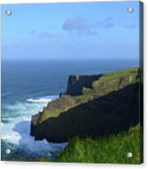 Galway Bay Churning Below The Cliffs Of Moher Acrylic Print