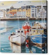 Galway Harbour Acrylic Print by Vanda Luddy