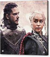 Game Of Thrones. Jon Snow And Daenerys Targaryen Acrylic Print