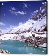 Gandharva Tal And Mount Shivaling Acrylic Print