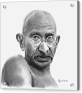 Gandhi Acrylic Print