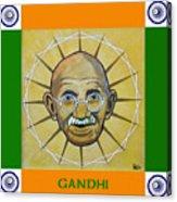 Gandhi Portrait Acrylic Print