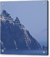 Gannets Fly Around Little Skellig, County Kerry, Ireland Acrylic Print