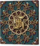 Ganpati Mandala  Acrylic Print