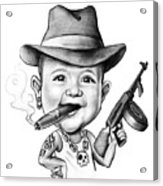Ganster Child Caricature Acrylic Print