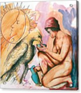 Ganymede And Zeus Acrylic Print by Rene Capone