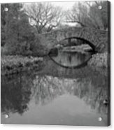 Gapstow Bridge - Central Park - New York City Acrylic Print by Holden Richards